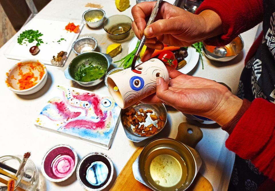 22 – 24 февруари 2021 г. Природата рисува – курс за приготвяне, приложение и съхранение на естествени бои от растения